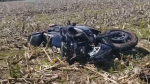 A 39-year-old man was thrown from his motorcycle during a crash in Norfolk County on Sunday, May 24, 2020. (Source: OPP)