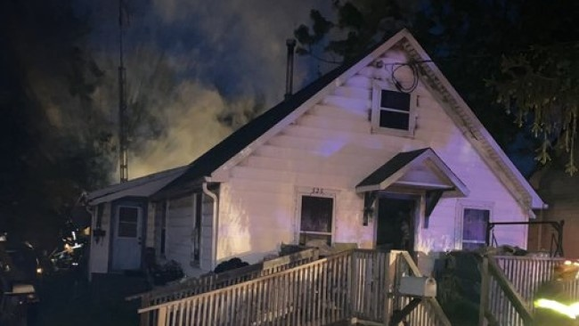 One person was injured in a fire in Wallaceburg, Ont. on Tuesday, May 26, 2020. (Source: Chatham-Kent Fire Department)