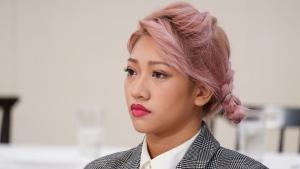 Hana Kimura at a press conference on October 17, 2019 in Tokyo, Japan. (Credit: Etsuo Hara / Getty Images)