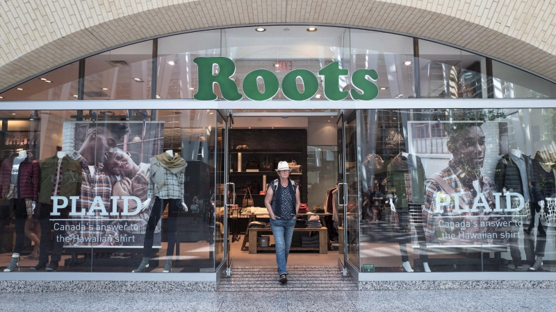 The storefront of a Roots location in Toronto is pictured on Thursday, September 14 , 2017. THE CANADIAN PRESS/Chris Young