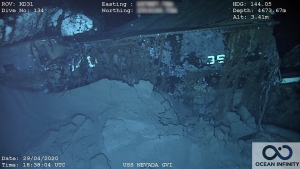 Researchers found the wreckage of the USS Nevada battleship 72 years after it was sunk at a depth of over 15,400 feet.