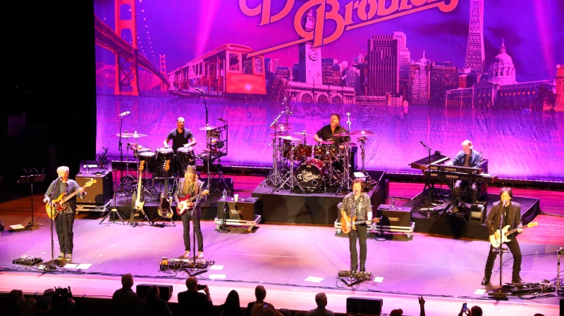 FILE - This Nov. 18, 2019 file photo shows The Doobie Brothers performing at Ryman Auditorium in Nashville, Tenn. (Photo by Al Wagner/Invision/AP, File)