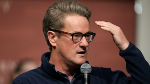 FILE - In this Oct. 11, 2017, file photo, MSNBC television anchor Joe Scarborough takes questions from an audience at forum at the John F. Kennedy School of Government, on the campus of Harvard University, in Cambridge, Mass. (AP Photo/Steven Senne, File)