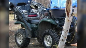 The Temiskaming Ontario Provincial Police say more than $13,500 of equipment – including ATVs, a generator and propane tanks -- were stolen in the community of Chamberlain last week. (Supplied)