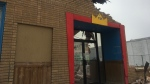 Demolition work begins on Regina's Wonderland Entertainment Centre. (Katy Syrota / CTV News Regina)
