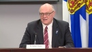 Dr. Robert Strang, Nova Scotia's chief medical officer of health, provides an update on COVID-19 during a news conference in Halifax on May 26, 2020.