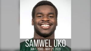 Samwel Uke was found dead in Wascana Lake on May 21, 2020. Courtesy: Langley Rams Junior Football Club