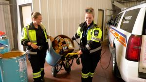 Saskatoon paramedics have given back to the local food bank. (Chad Hills/CTV Saskatoon)