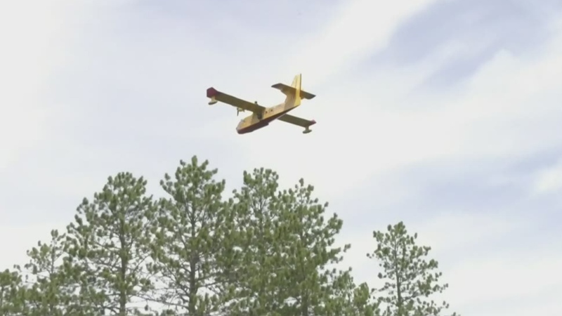 Water bombers battle Blackville blaze