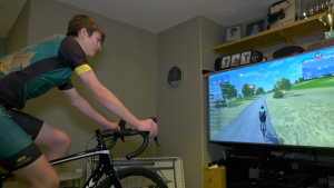15-year-old Carson Ritter is using the Canadian Virtual Cycling Series to train, while COVID-19 restricts in-person practices.