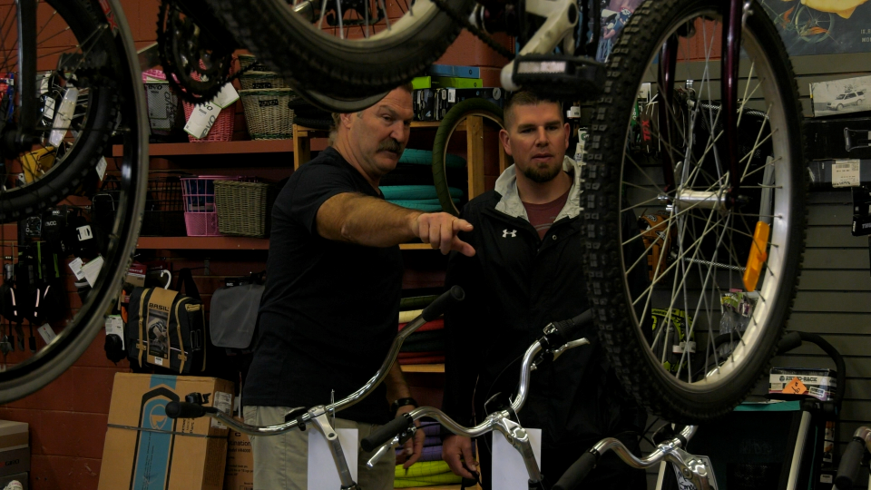 Bryan Van Tassel said bikes at Boh's Cycle and Sporting Goods in Moose Jaw have been in high demand amid COVID-19.