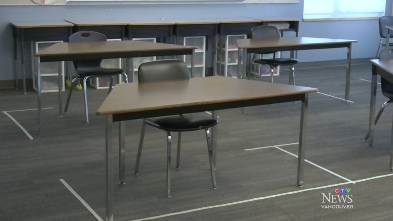 Extended: Inside a physically distanced classroom