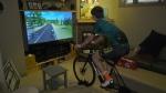 Virtual cycling keeping athletes fit