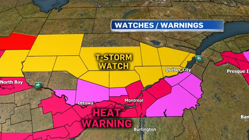 Montreal heat warning