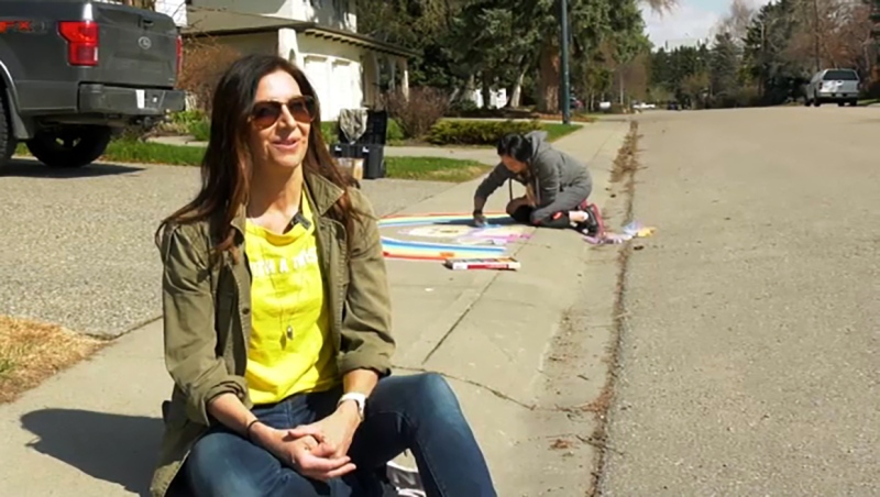 She's bringing rainbows to Calgary and she's this week's Inspired Albertan. Darrel Janz reports