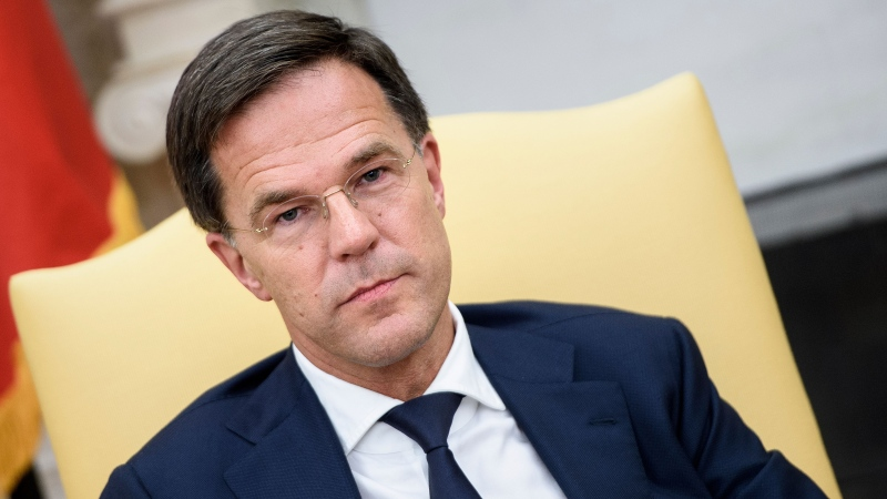 Dutch Prime Minister Mark Rutte waits for a meeting with U,S, President Donald Trump in the White House in July 2018. (Brendan Smialowski / AFP / CNN)