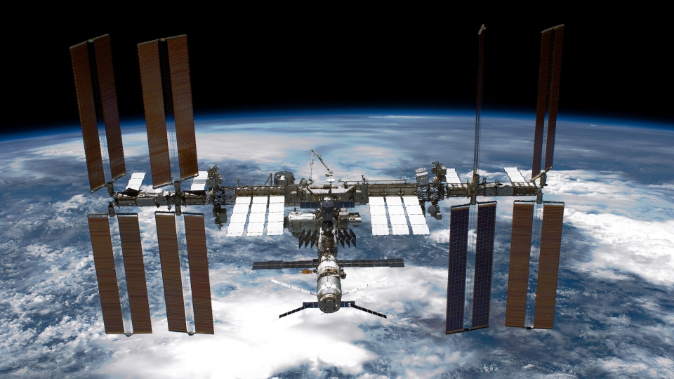 The International Space Station (ISS) is seen from NASA's space shuttle Endeavour after the station and shuttle began their post-undocking separation May 29, 2011. (NASA/Getty Images North America/Getty Images)