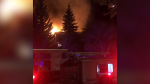 Crews were called to a fire at an apartment building early Wednesday morning. (Source: St. Albert Firefighters/Twitter)