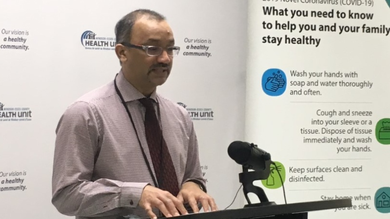 Windsor-Essex medical officer of health Dr. Wajid Ahmed in Windsor, Ont., on Wednesday, May 27, 2020. (Bob Bellacicco / CTV Windsor)