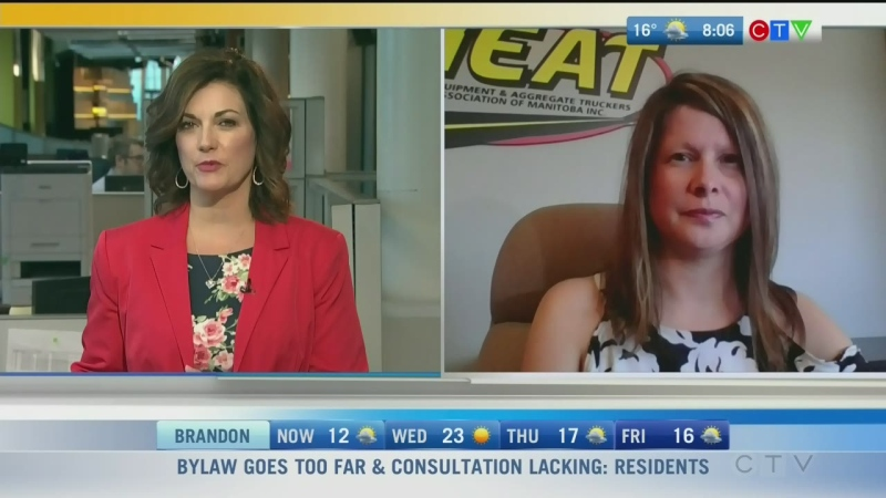 Heavy Construction and Aggregate Truckers' Shannon Hiebert says everyone should have the right to feel safe on the job. Rachel Lagacé reports.