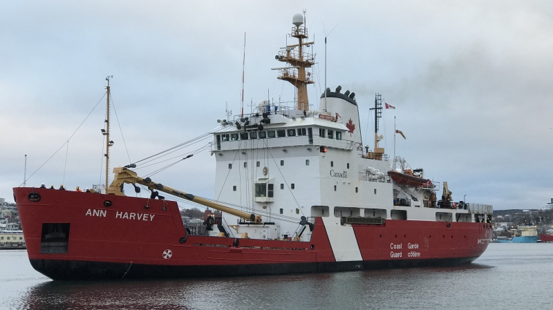 The CCGS Ann Harvey is seen in this undated handout photo. A Newfoundland community was in mourning Tuesday after the bodies of three fishermen were recovered and a search continued for a fourth crew member missing off the island's south coast. THE CANADIAN PRESS/HO, Canadian Coast Guard