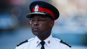 Toronto Police Chief Mark Saunders is seen in this image. (The Canadian Press)