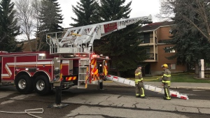 An apartment building in St. Albert was evacuated after an early morning fire.