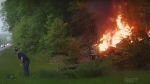 Good Samaritan saves driver from burning car