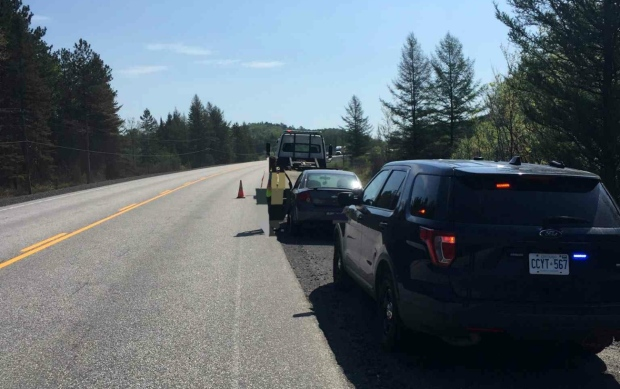 Two people are facing stunt driving and impaired driving charges after separate traffic stops early Wednesday afternoon. (Supplied)