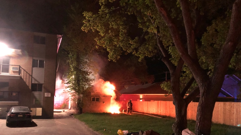 Fire crews responded to a fire in the 100 block of Avenue O South around 2:33 a.m. on May 27. (Saskatoon Fire Department.)