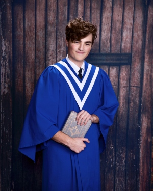 "Tristan Spencer graduating from Duncan Christian School:  ""We are so proud of the incredible young man you have become.  We pray that the Lord will bless you richly as you start this new chapter of your life.   We love you very much!  Mom and Dad."""