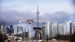 The CN Tower can be seen in the Toronto skyline in Toronto, Ontario. (The Canadian Press)