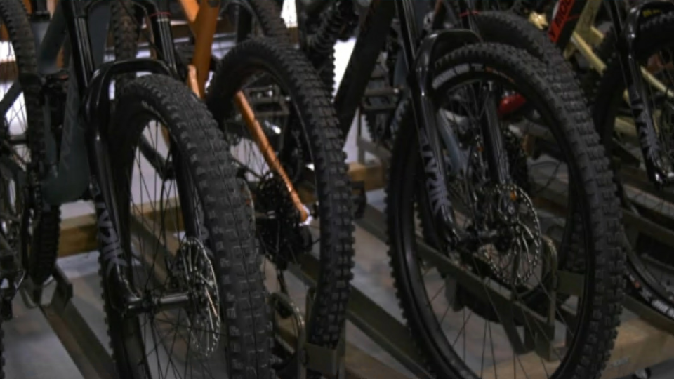 Bicycles for sale at Kinetik Cycles in Coquitlam. Metro Vancouver bike shops say they've seen a surge in business since the COVID-19 pandemic began. (CTV)