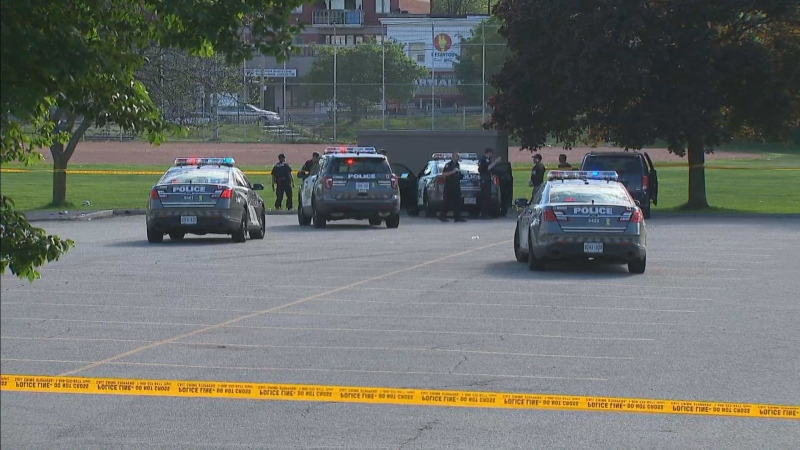 A man is in hospital in critical condition after a shooting in the city's east end.