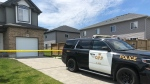 OPP sudden death investigation in Thorndale Ont. on May 27, 2020. (Jim Knight/CTV London)