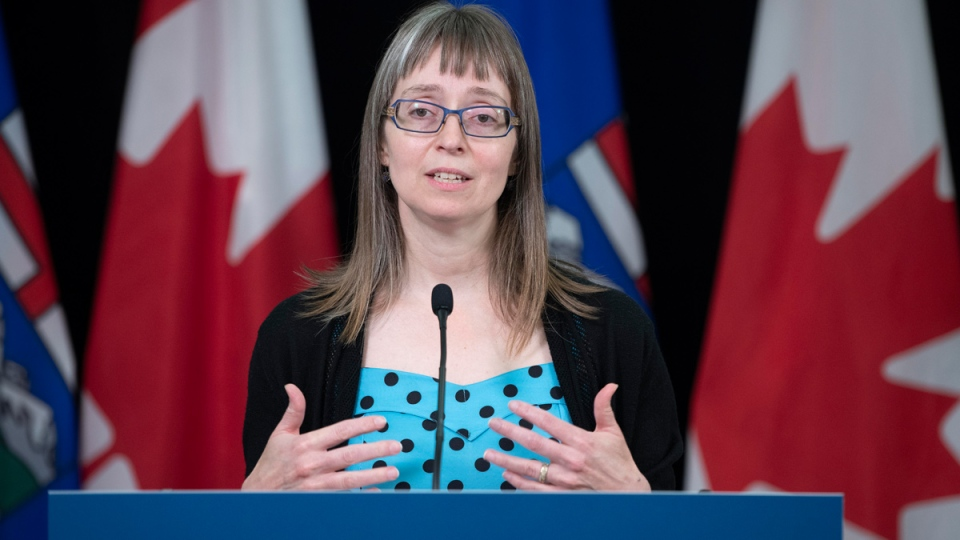 Alberta's chief medical officer of health Dr. Deena Hinshaw provided, from Edmonton on Monday, May 25, 2020, an update on COVID-19 and the ongoing work to protect public health. (photography by Chris Schwarz/Government of Alberta)