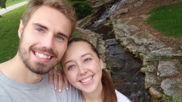 Justin Montney's fiancee Alexis Wyatt are seen in this image. (KRDO/CNN)