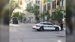 Winnipeg Police responded to a dynamic situation in the area of King Street and McDermot Avenue (CTV News Photo Scott Andersson)