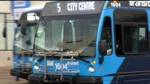 A Saskatoon bus is pictured May 27, 2020.