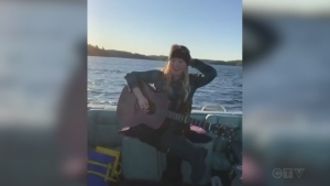 Tonight's song comes to us from Sudbury's Jo Po, who sings 'Boots and Hearts' from a boat docked at her Sudbury area camp.