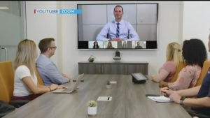 "In the age of COVID-19, millions of people are working from home, and while there are some real pros and cons about staying out of the office, one thing experts want you to look out for is ""zoom fatigue."" (Image from video)"