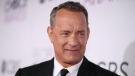 Tom Hanks shared photos on Instagram where he appears to be donating convalescent plasma to help in the fight against COVID-19. (Christopher Polk/Getty Images North America)