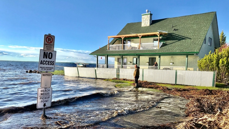 Alberta Beach flooding, May 27
