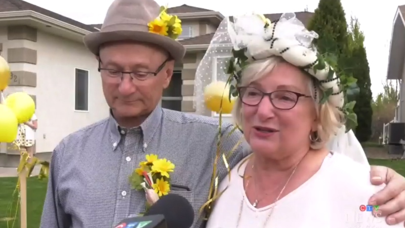 Couple surprised with celebration