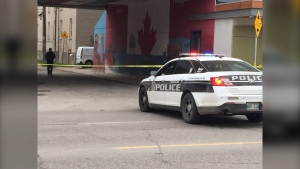Officers tweeted the westbound curb lane on Ellice Avenue from Young to Furby Street is closed.(Source: Gary Robson/CTV Winnipeg)