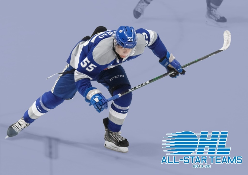 In a news release Wednesday, the Ontario Hockey League announced Sudbury Wolves centre Quinton Byfield was named to the league's third-all-star team. (Supplied)