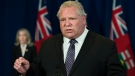 Ontario Premier Doug Ford speaks during his daily updates regarding COVID-19 at Queen's Park in Toronto on Wednesday, May 27, 2020. THE CANADIAN PRESS/Nathan Denette