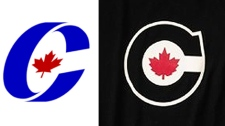 The current Conservative Party logo (right) compared with a new logo on Olympic uniforms released on October 1, 2009.