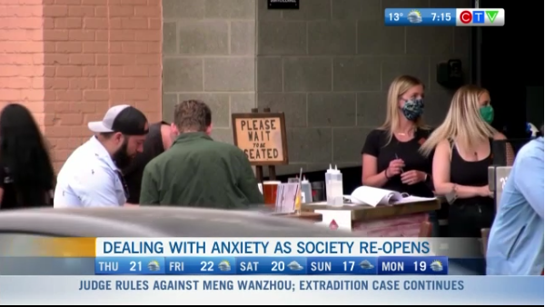 Anxiety as society reopens