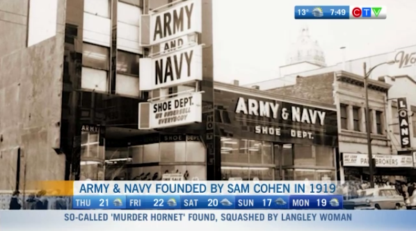Army & Navy closing, Cohen